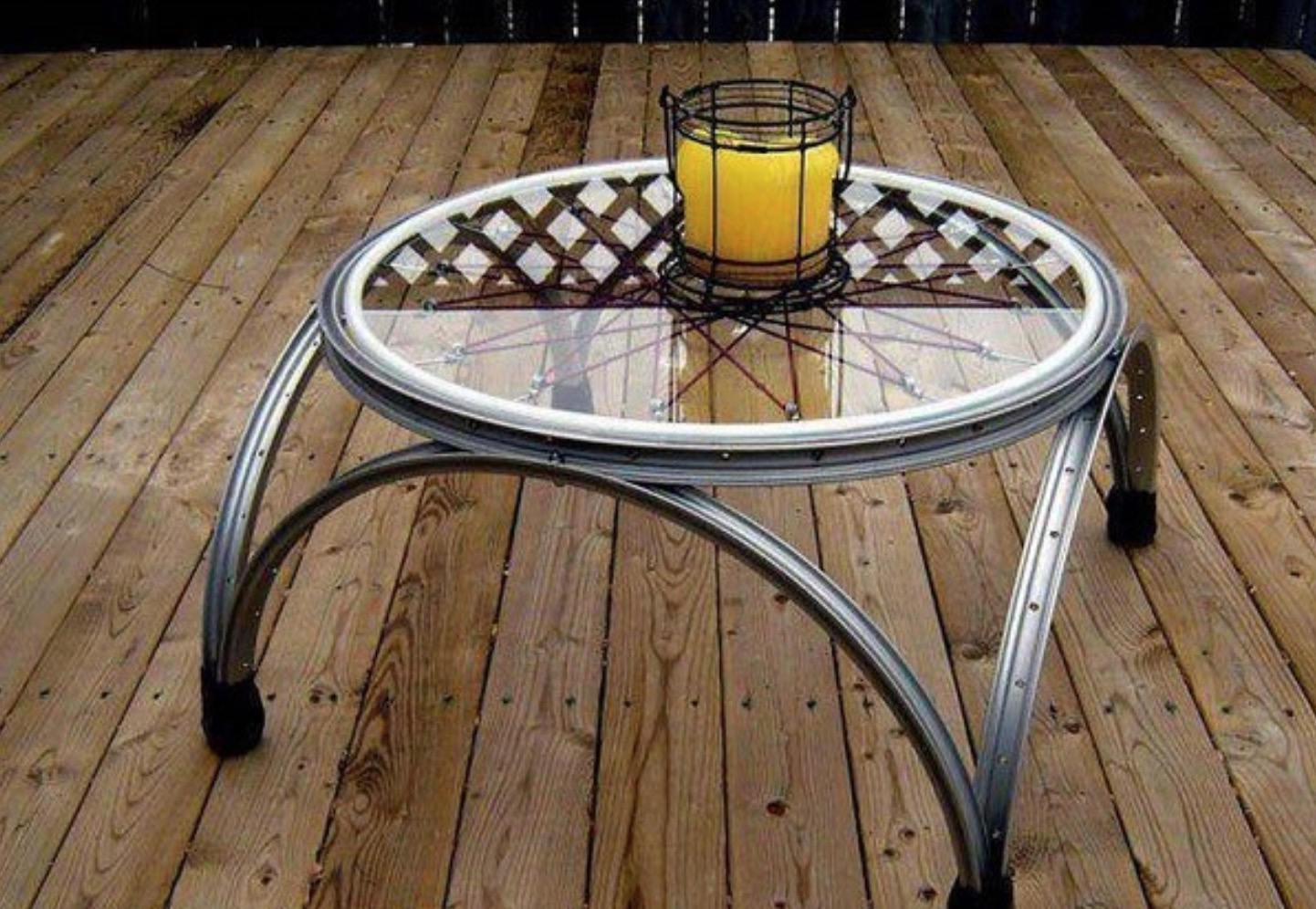 Old bike table