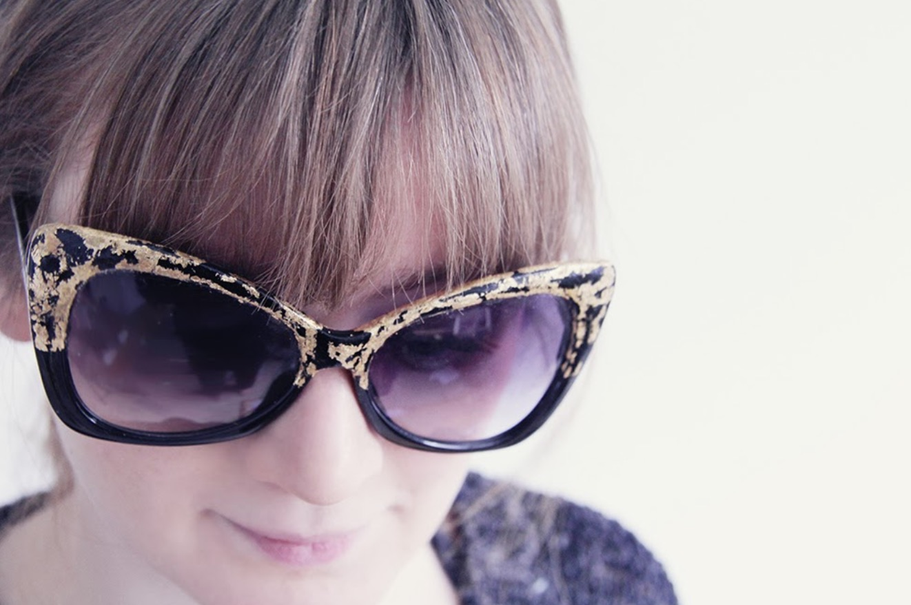 Gold Leaf Sunglasses